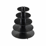 3414 - Black Cupcake Stand, 5 Tier Double Wall Corrugated