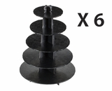 3414q6 - Black Cupcake Stands, 5 Tier Double Wall Corrugated