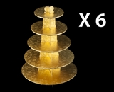 3417q6 - Gold Cupcake Stands, 5 Tier Double Wall Corrugated