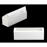 "3418 - 13"" x 4"" x 4"" White/White with Window, One Piece Lock & Tab Box With Lid"
