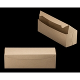 "3422 - 13"" x 4"" x 4"" Brown/Brown without Window, One Piece Lock & Tab Box With Lid"