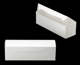 "3423 - 13"" x 4"" x 4"" White/White without Window, One Piece Lock & Tab Box With Lid"