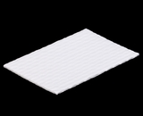 "3424 - 7"" x 4 1/2"" Candy Pad, White with White Core, 3-Ply Glassine Candy Box Liner. B01"