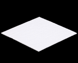 "3429 - 10"" x 10"" Candy Pad, White with White Core, 3-Ply Glassine Candy Box Liner"