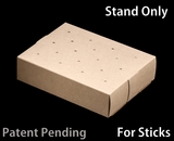 "3436 - 8 1/2"" x 6"" x 2"" Brown/Brown Cake Pop Stand for Sticks, 50 COUNT"