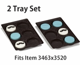 "3440x3440 - 2 pack set Chocolate Brown 6 Cavity Tray  9 1/2"" x 6"" x 15/16"""