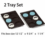 "3440x3440 - 2 pack set Chocolate Brown 6 Cavity Tray  9 1/2"" x 6"" x 15/16"" . D02xD02"