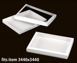 "3463x3462 - 12 1/2"" x 9 3/4"" x 1 1/4"" White/White Two Piece Simplex Box Set, with Window"