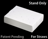 """3464 - 8 1/2"""" x 6"""" x 2"""" White/White Cake Pop Stand for Paper Straws, 50 COUNT"""