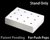"3465 - 8 1/2"" x 6"" x 2"" White/White Cake Push Pop Stand, 50 COUNT"