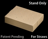 """3466 - 8 1/2"""" x 6"""" x 2"""" Brown/Brown Cake Pop Stand for Paper Straws, 50 COUNT"""