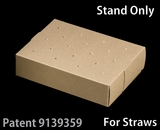 "3466 - 8 1/2"" x 6"" x 2"" Brown/Brown Cake Pop Stand for Paper Straws, 50 COUNT"