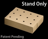 """3467 - 8 1/2"""" x 6"""" x 2"""" Brown/Brown Cake Push Pop Stand, 50 COUNT"""