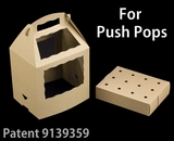 "3467x3435 - 8 1/2"" x 6"" x 8"" Brown/Brown Cake Push Pop Box Set, 50 COUNT"