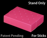 "3469 - 8 1/2"" x 6"" x 2"" Pink/White Cake Pop Stand for Sticks, 50 COUNT"