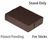 "3471 - 8 1/2"" x 6"" x 2"" Chocolate/Brown Cake Pop Stand for Sticks, 50 COUNT"