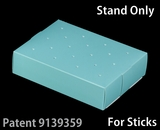 "3473 - 8 1/2"" x 6"" x 2"" Diamond Blue/White Cake Pop Stand for Sticks, 50 COUNT. C09"