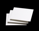 "3477 - 3 7/8"" x 4 7/8"" White Grease Resistant Cookie Card"
