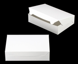 "3479 - 10"" x 7"" x 2 1/2"" White/White without Window, Lock & Tab Box With Lid"
