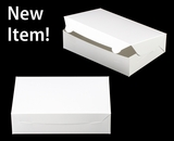 "3479 - 10"" x 7"" x 2 1/2"" White/White without Window, Lock & Tab Box With Lid. A17"