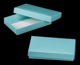 "3484x3485 - 1/2# Candy Box Set Diamond Blue/White 7"" x 4 1/2"" x 1 1/4"" Simplex Box Set, without Window"