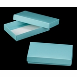 "3484x3526 - 7"" x 4 1/2"" x 1 1/4"" Diamond Blue/White Two Piece Simplex Box Set, without Window"