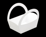 "3500 - 8 1/2"" x 6 1/4"" x 9 1/2"" White/White Basket Box, 50 PACK"