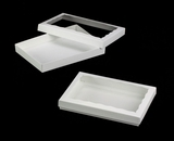 "3522x3521 - 10"" x 7"" x 1 1/4"" White/White Two Piece Simplex Box Set, with Window"