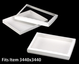 "3537x3520 - 12 1/2"" x 9 3/4"" x 1 1/4"" White/White Two Piece Simplex Box Set, with Window"