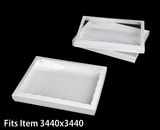 "3537x3520 - 12 1/2"" x 9 3/4"" x 1 1/4"" White/White Two Piece Simplex Box Set, with Poly Window. C17xC08"