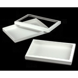 "3538x3539 - 14"" x 10"" x 1 1/4"" White/White Two Piece Simplex Box Set, with Window"