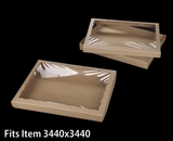 "3548x3532 - 12 1/2"" x 9 3/4"" x 1 1/4"" Brown/Brown Two Piece Simplex Box Set, with Poly Window. A15xA07"
