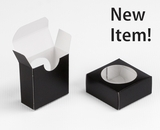"3550 - 2 1/4"" x 2 1/4"" x 1"" Black/White, Favor Box with window"