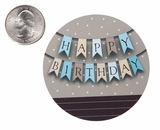 "3557 - 2 1/2"" Happy Birthday Banner Blue Favor Label, 50 Count"