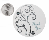 """3559 - 2 1/2"""" Thank You Swirl Favor Label, 50 Count"""