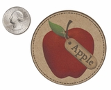 "3560 - 2 1/2"" Apple Flavor Label, 50 Count"