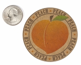 "3563 - 2 1/2"" Peach Flavor Label, 50 Count"