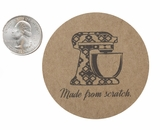 """3566 - 2 1/2"""" Mixer, Made From Scratch Favor Label, 50 Count"""
