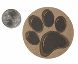 "3567 - 2 1/2"" Paw Print Favor Label, 50 Count"