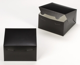 "3581 - 7"" x 7"" x 4"" Black/White without Window, Lock & Tab Box with Lid. A18"