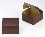 "3584 - 7"" x 7"" x 4"" Chocolate/Brown without Window, Lock & Tab Box With Lid"