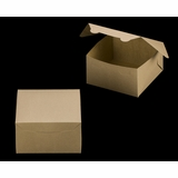 "3590 - 7"" x 7"" x 4"" Brown/Brown without Window, Lock & Tab Box With Lid"