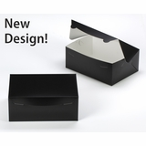 "3593 - 10"" x 7"" x 4"" Black/White without Window, Lock & Tab Box With Lid"