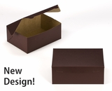 """3595 - 10"""" x 7"""" x 4"""" Chocolate Brown/Brown without Window, Lock & Tab Box With Lid"""