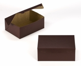 "3595 - 10"" x 7"" x 4"" Chocolate Brown/Brown without Window, Lock & Tab Box With Lid. A21"