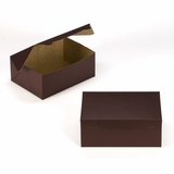 "3595 - 10"" x 7"" x 4"" Chocolate Brown/Brown without Window, Lock & Tab Box With Lid"
