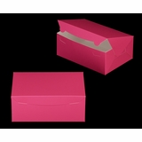 "3598 - 10"" x 7"" x 4"" Pink/White without Window, Lock & Tab Box With Lid"