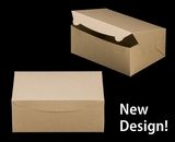 """3601 - 10"""" x 7"""" x 4"""" Brown/Brown without Window, Lock & Tab Box With Lid"""