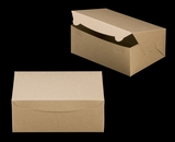 "3601 - 10"" x 7"" x 4"" Brown/Brown without Window, Lock & Tab Box With Lid. A21"