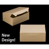 "3601 - 10"" x 7"" x 4"" Brown/Brown without Window, Lock & Tab Box With Lid"